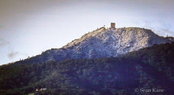 Snow Covered Mt. Umunhum in April