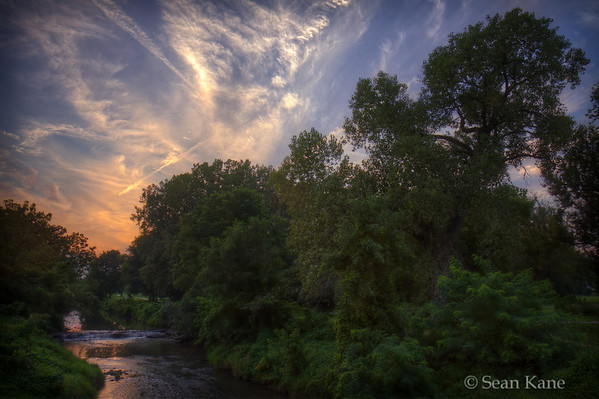 Duck Creek at Sunset