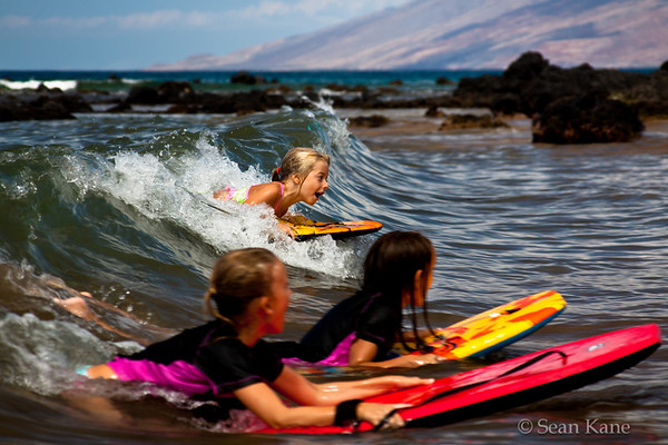 Boogie Boarding in Maui